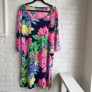 Lilly Pulitzer Floral Long Sleeve Dress Large